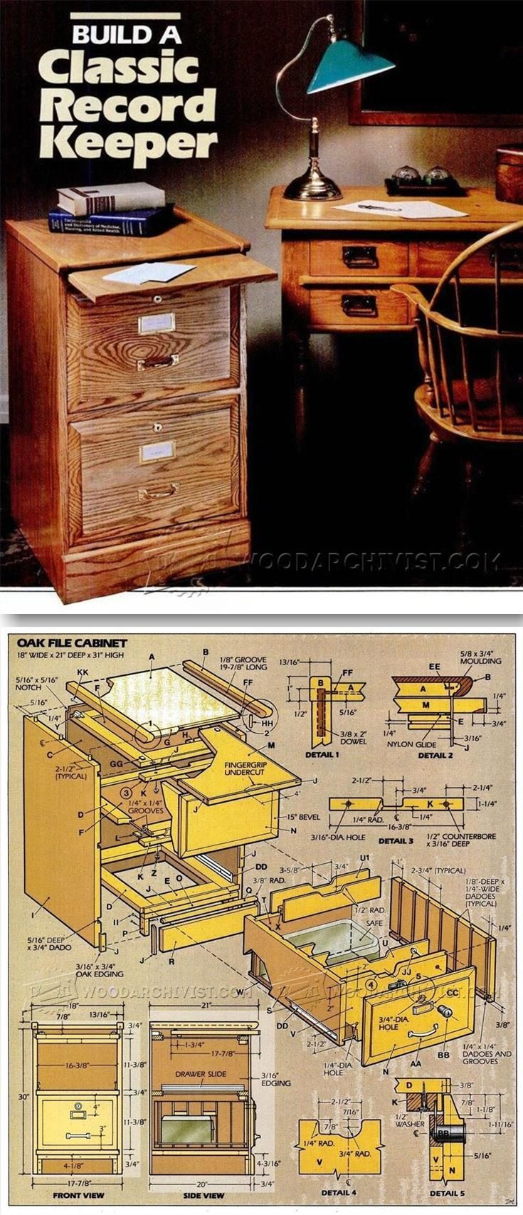 File Cabinet Plans - Furniture Plans and Projects | WoodArchivist ...