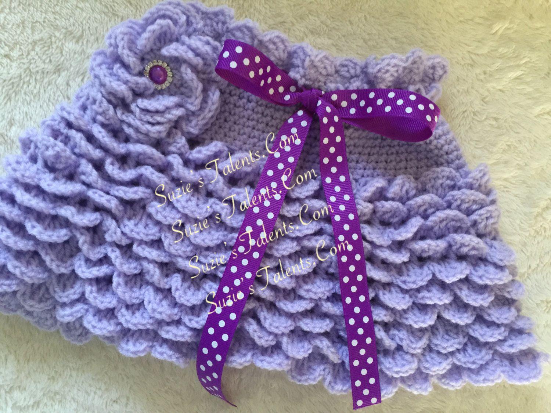 PATTERN PT119 - Crochet Baby Ruffle Skirt II, Crochet Girls Ruffle ...