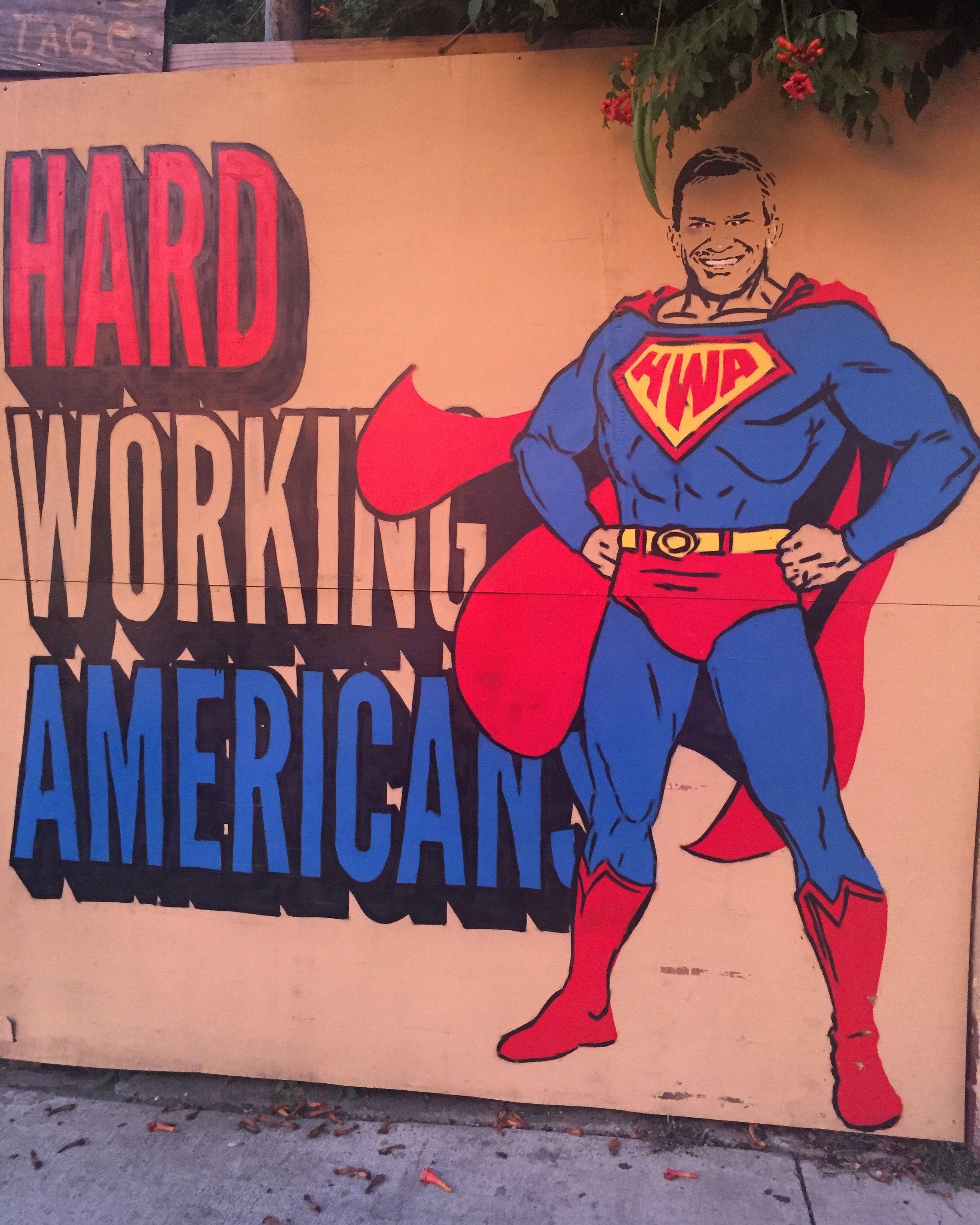 #covernashville #hardworkingamerican #hardworking #american #superman #eastnashville #streetart #mural #fivepoints #nashville #art