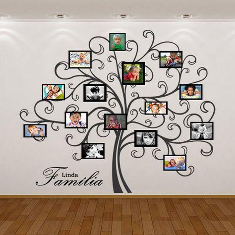 Adesivo de parede rvore geneal gica proyectos que - Paredes pintadas originales ...