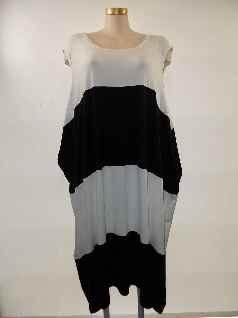 Gershon Bram - Black/White Stripe Cap Sleeve Efrat Dress