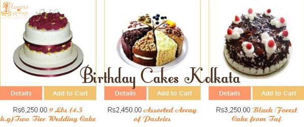 Online Birthday Cakes Delivery In Kolkata