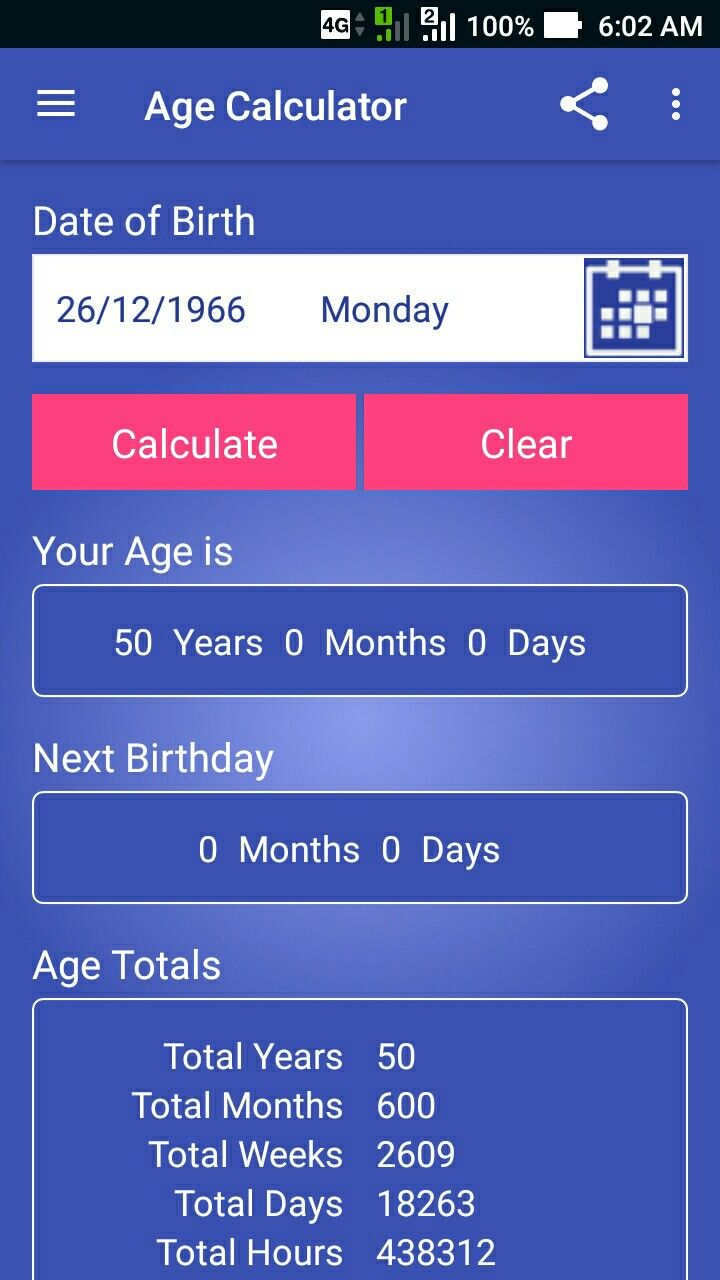 Age calculator is a free and light weight fast and easy to use app age calculator is a free and light weight fast and easy to use app nvjuhfo Image collections