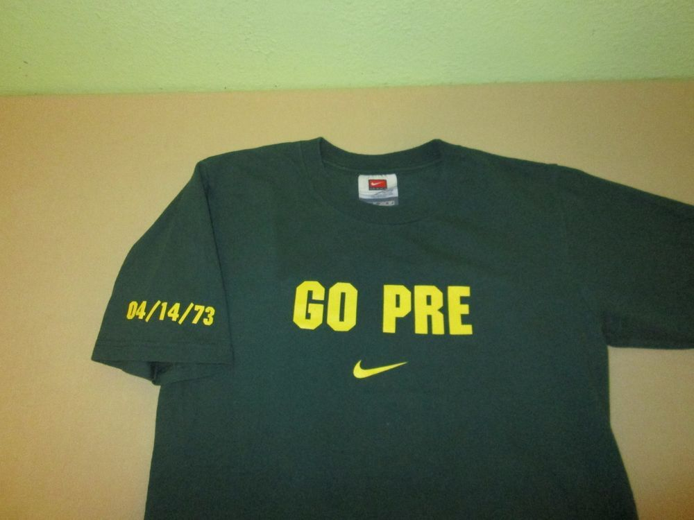 Vntg NIKE GO PRE T Shirt XS X Small - Green - Steve Prefontaine - Running