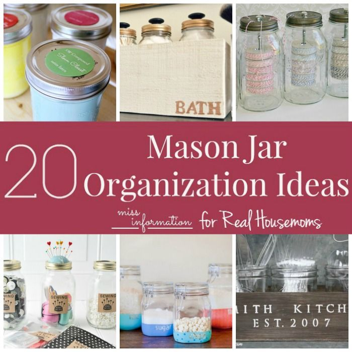 Organizing with Mason Jars is so simple! Here are 20 great ideas to on mason jar kitchen gadgets, mason jar desserts, mason jar halloween, mason jar kitchen art, mason jar kitchen curtains, mason jar kitchen garden, mason jar appetizers, mason jar gingerbread, mason jar cookies, mason jar kitchen organizing, mason jar kitchen plants, mason jar kitchen wall decor, mason jar soups, mason jar eggs, mason jar muffins, mason jar kitchen decorating, mason jar kitchen tools, mason jar kitchen fabric,