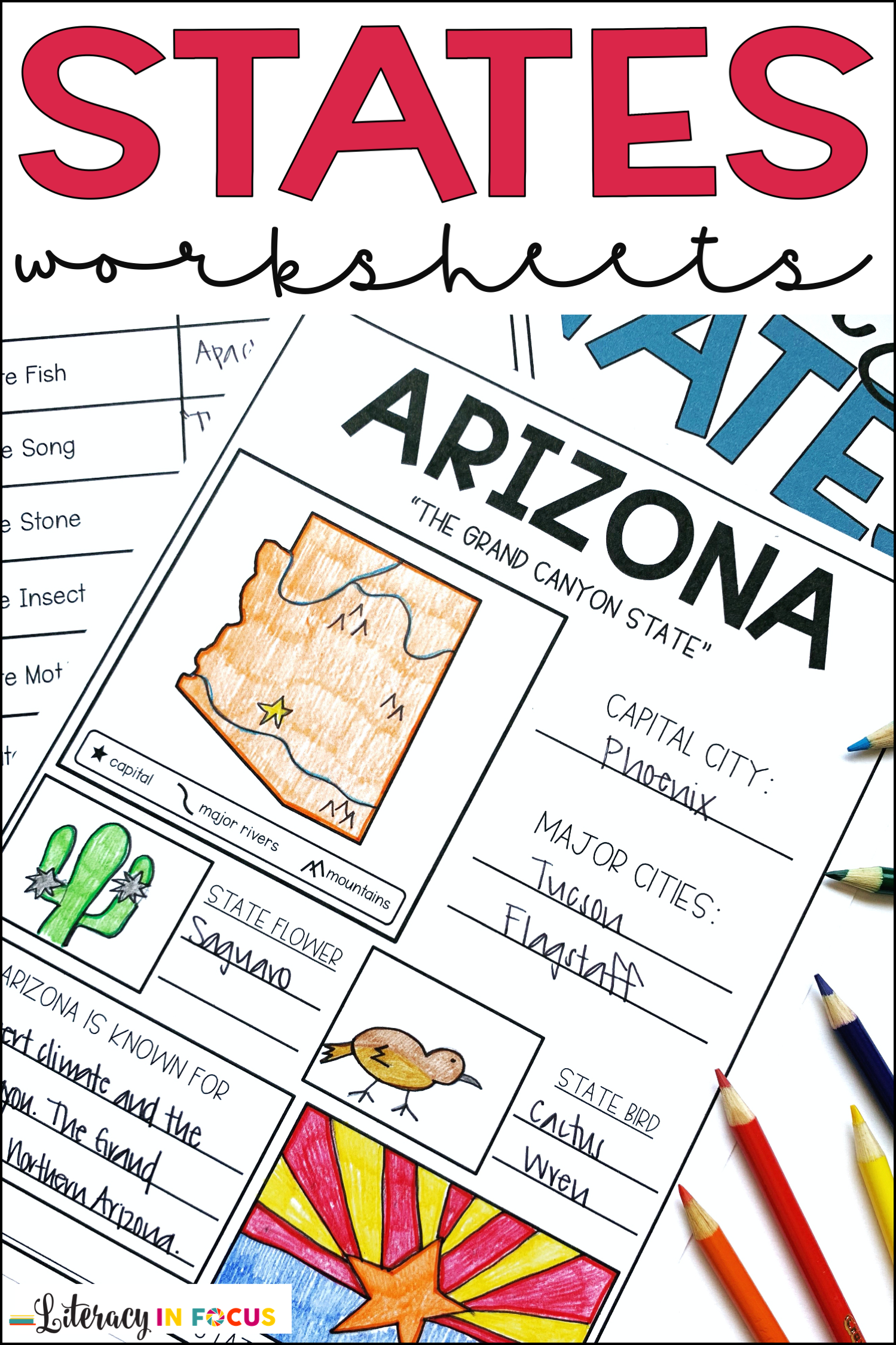 50 States Worksheets