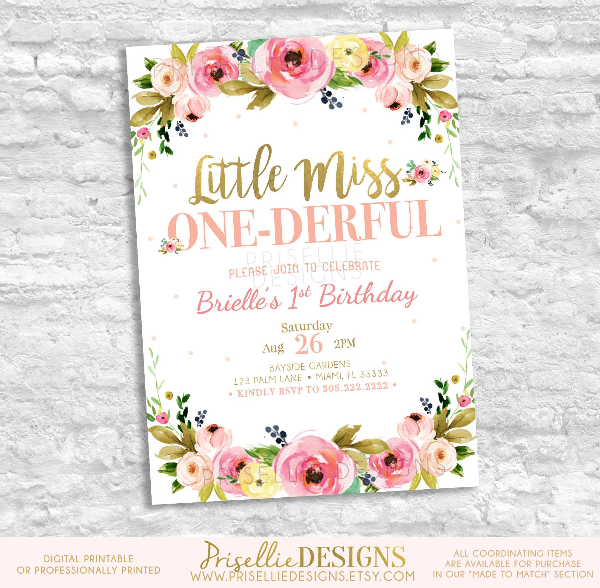 A Wild One Birthday Invitation, First Birthday Invitation Girl, Boho ...