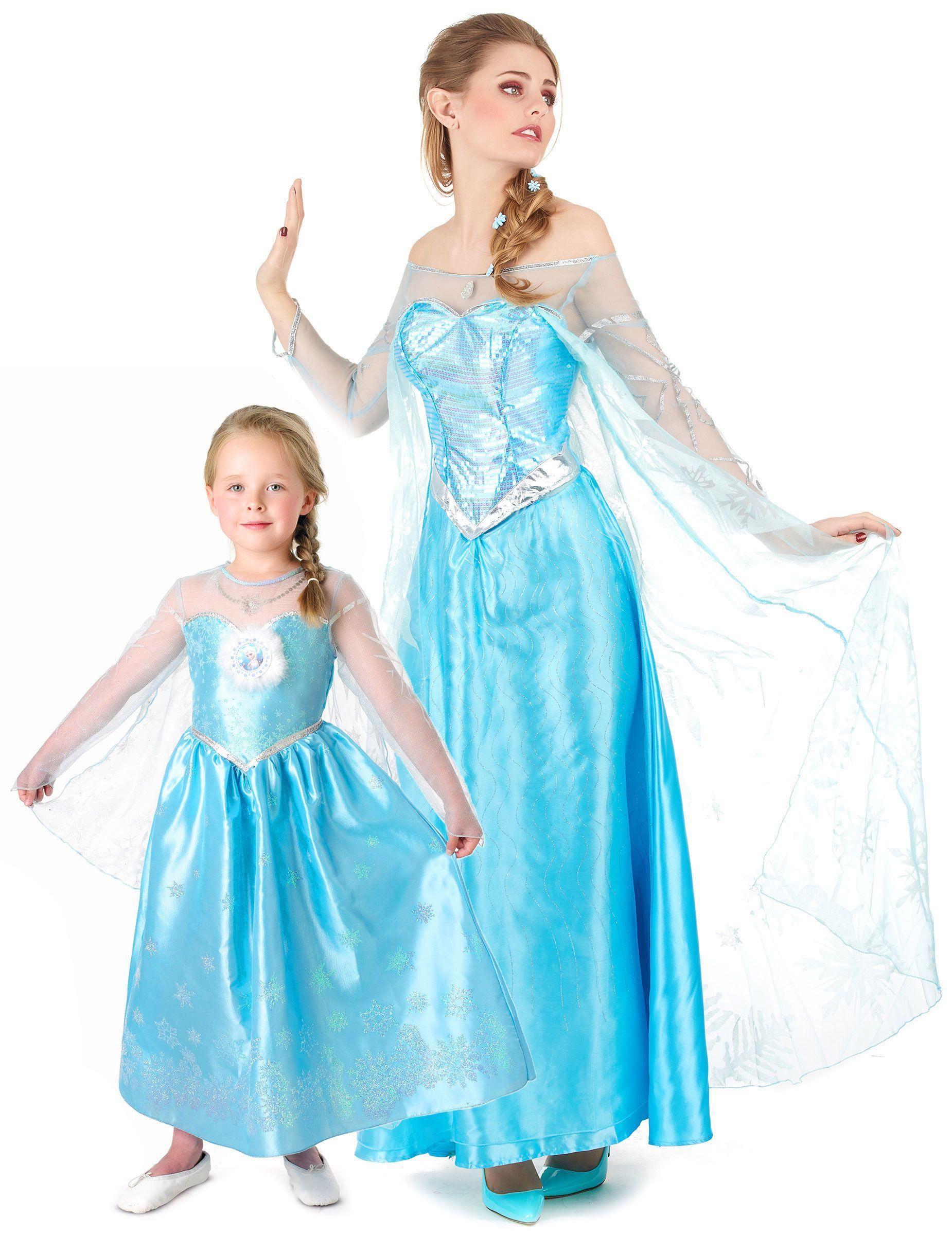 ec5281c2c026 Costume madre figlia Elsa Frozen™: Costume Elsa Frozen™ bambinaQuesto  costume da principessa Elsa