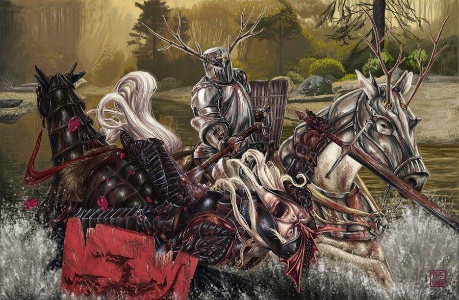 Robert Baratheon Vs Rhaegar Targaryen Game Of Thrones Art Targaryen Art Fire Art
