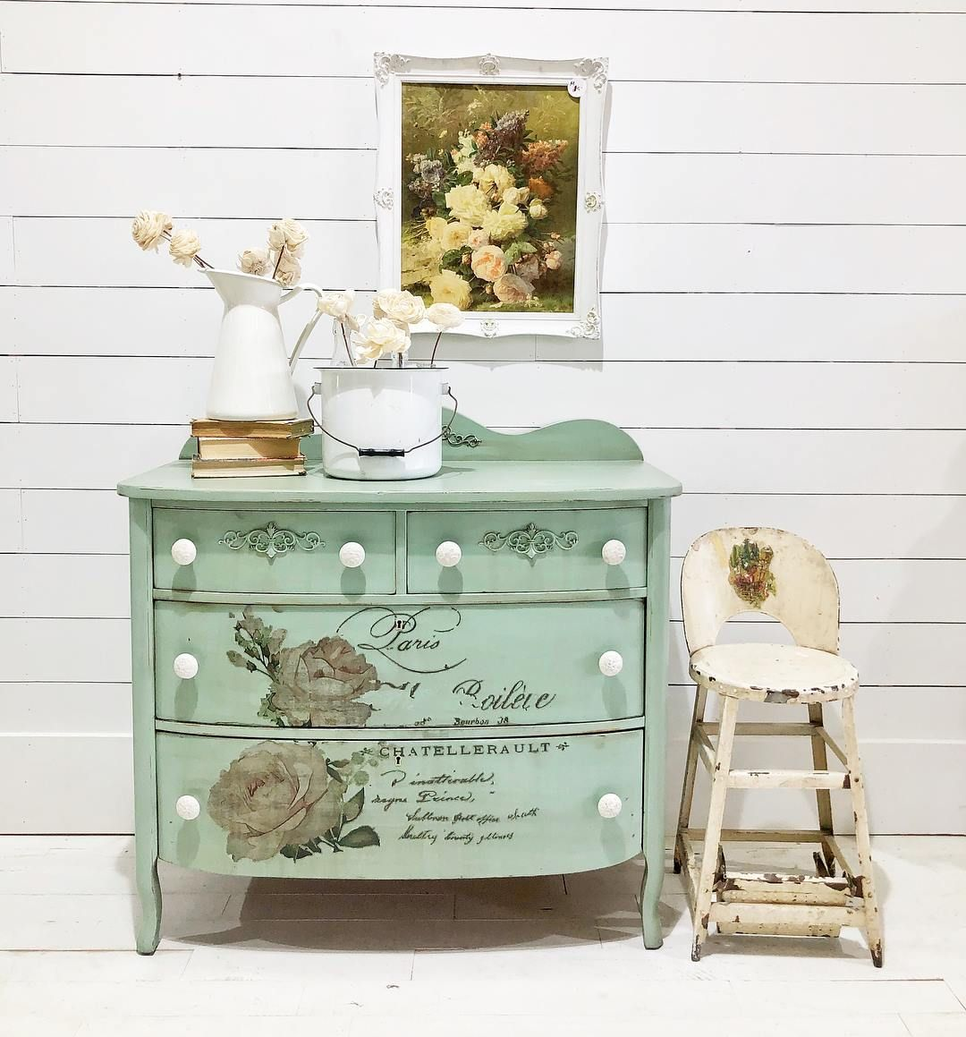 Transfers For Furniture 20 Inspiring Decor Transfer Makeovers Chatellerault Painted Furniture Chic Furniture