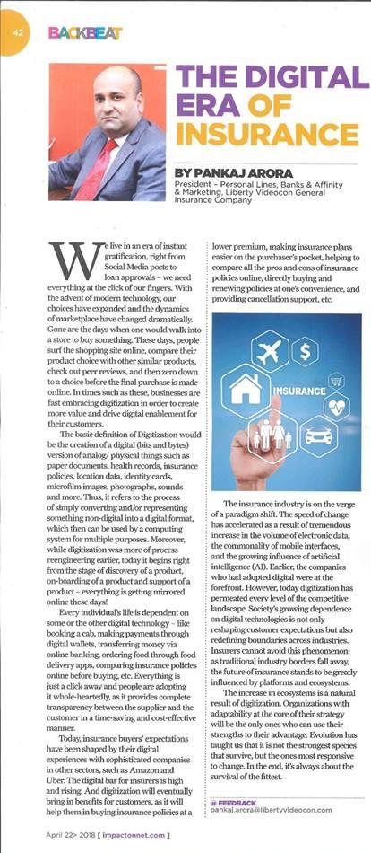 The Digital Era Of Insurance Insurance Marketing Insurance Industry