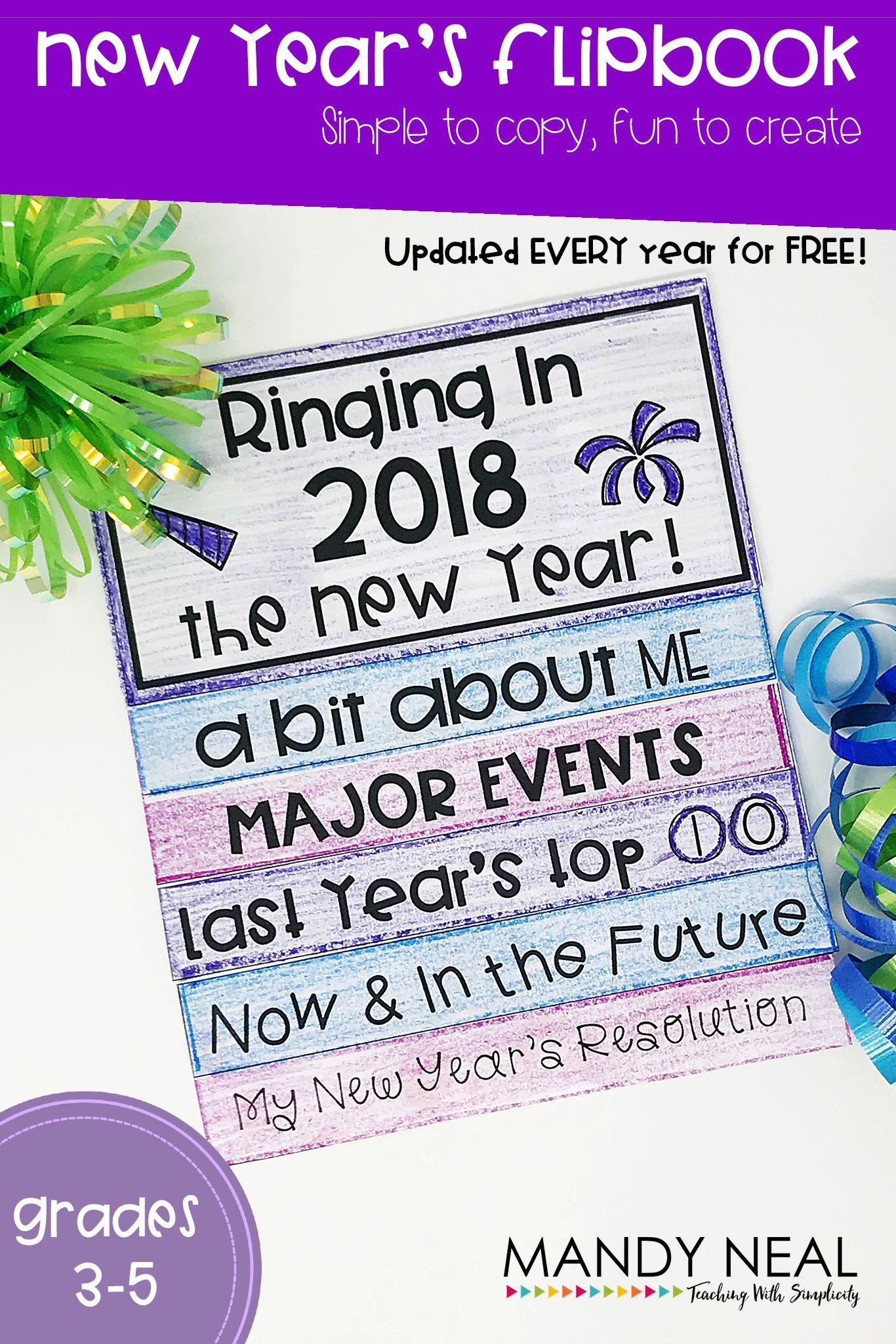 New Year S Activities Flip Book