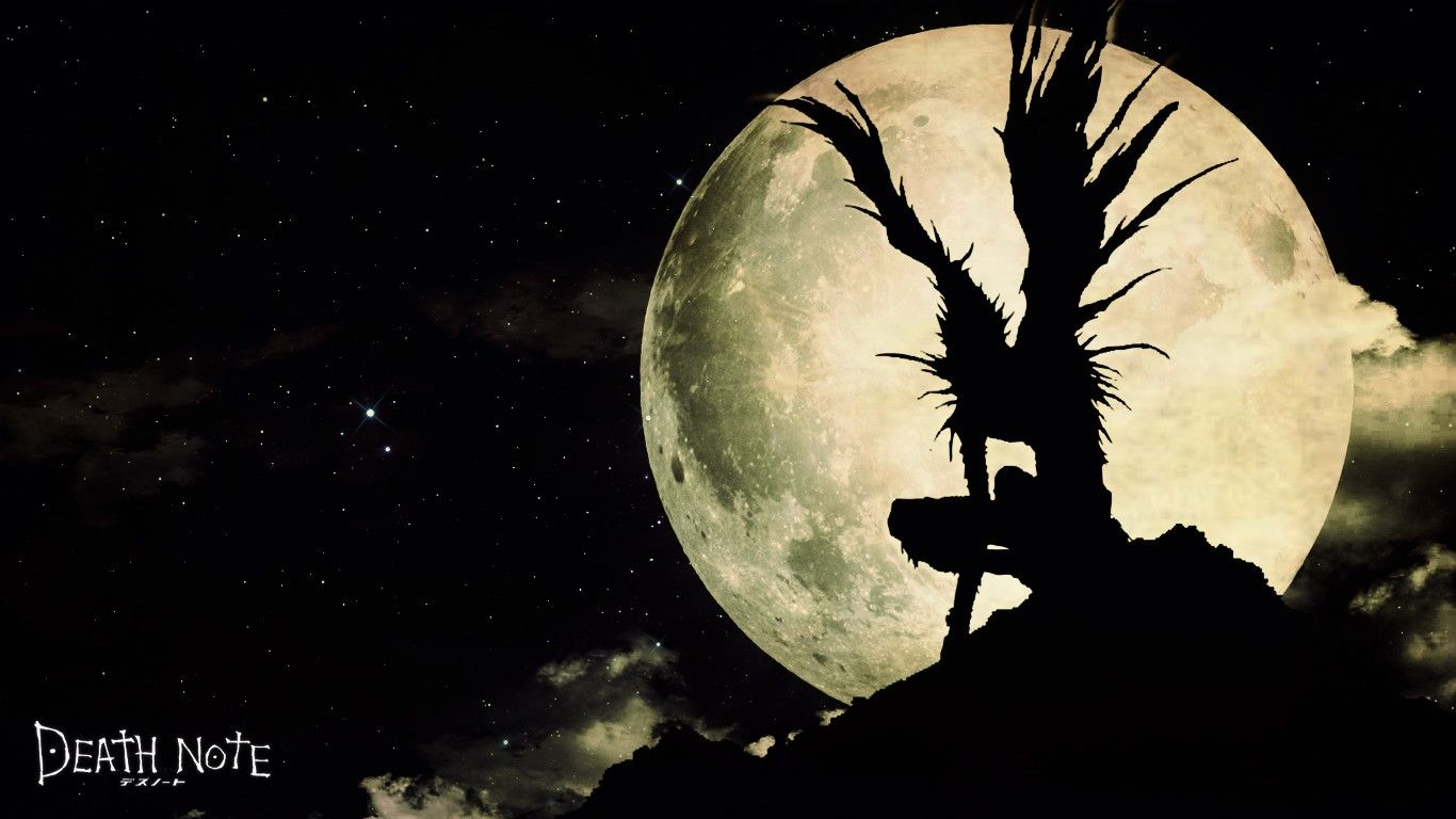 Ryuk By The Moon Light Death Note Death Note L Shinigami