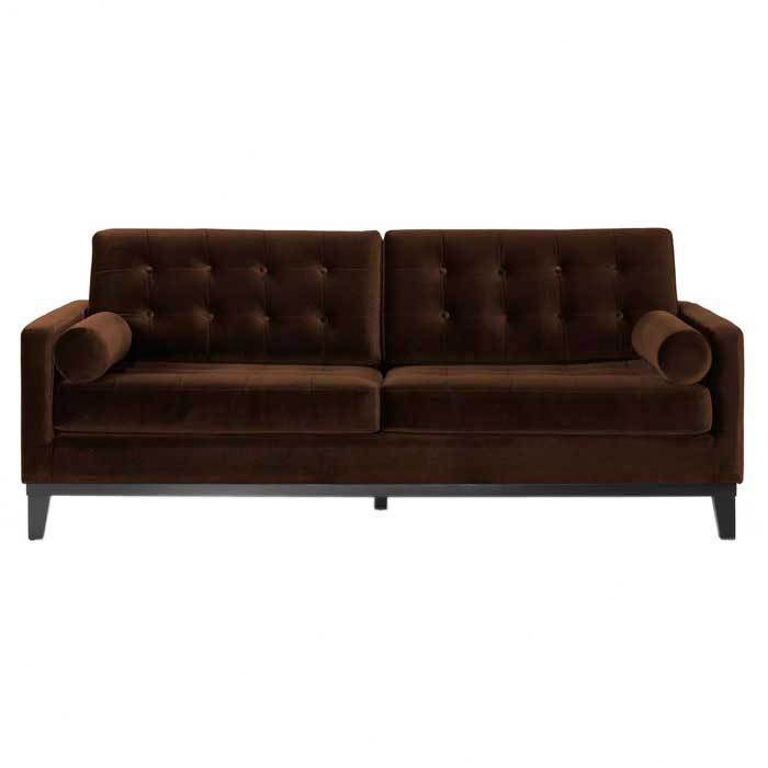 Best Dark Brown Velvet Sofa Purple Velvet Sofa Purple Sofa 400 x 300