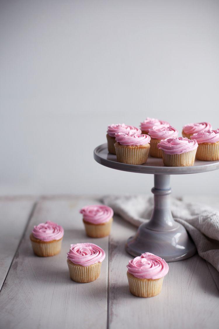 로즈워터 컵케익