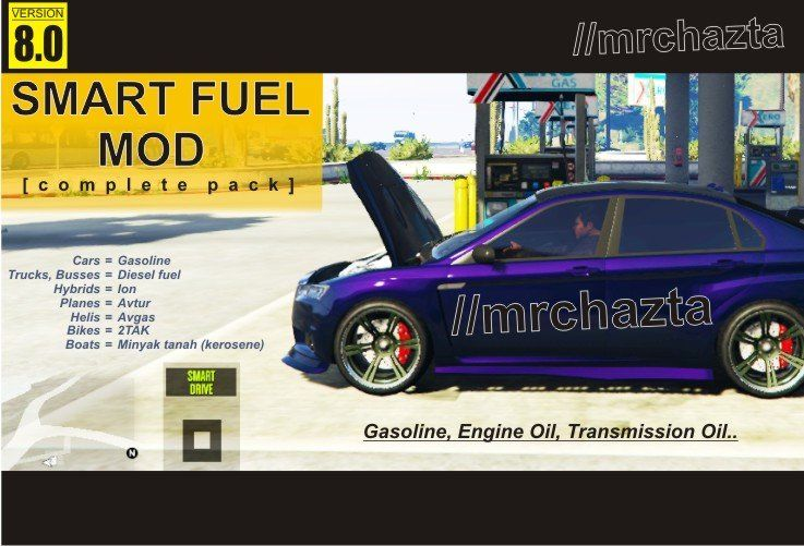 Smart Fuel Mod All In 1 Fuel Gas Diesel Fuel Packing Car
