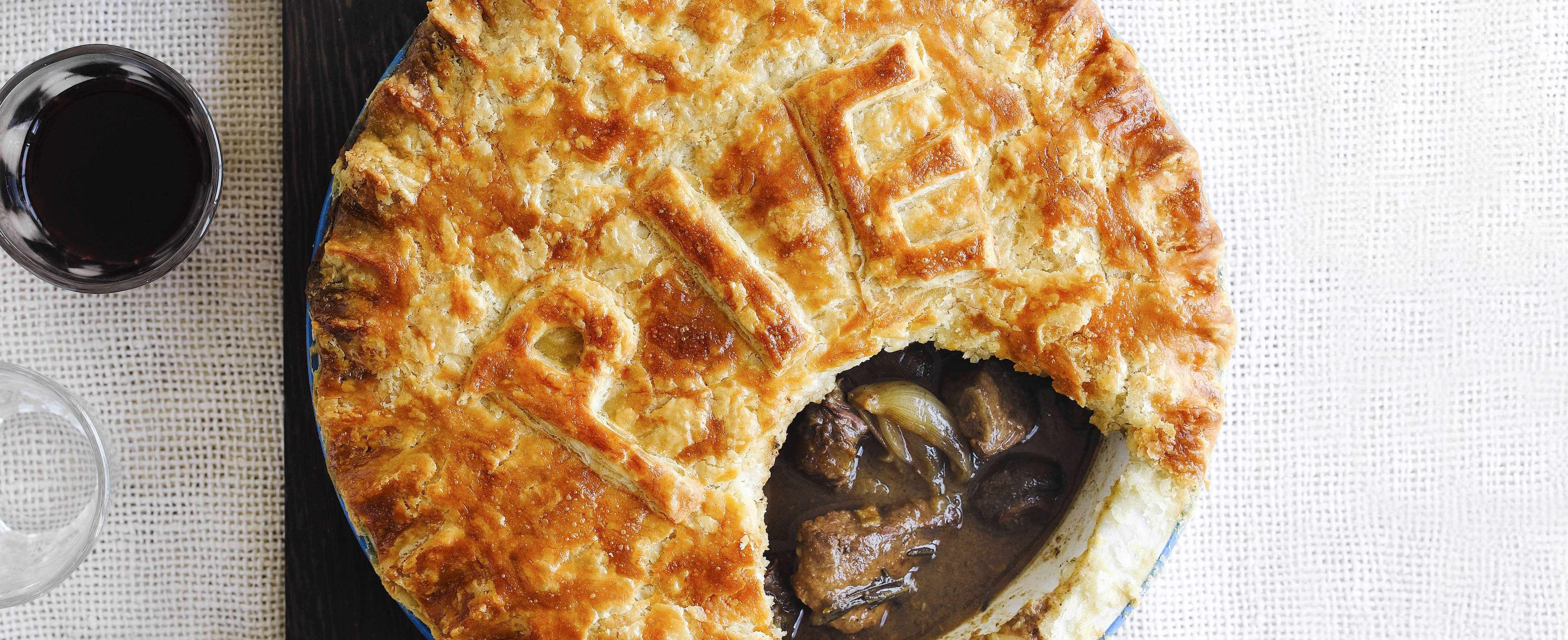 Steak and red wine pie with suet crust | Recipe in 2020 ...
