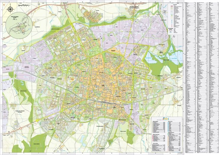 Large detailed map of VitoriaGasteiz Maps Pinterest Vitoria