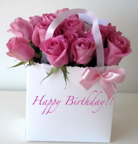 Pink Fresh Flowers Birthday Gift With Images Happy Birthday