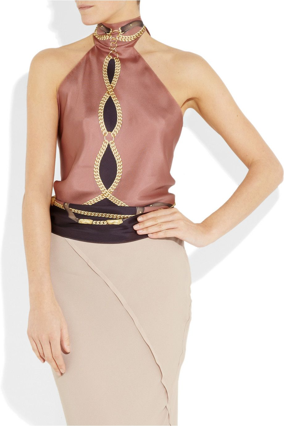 00f31a306 Gucci silk halter top | Must have Fashion in 2019 | Net a porter ...
