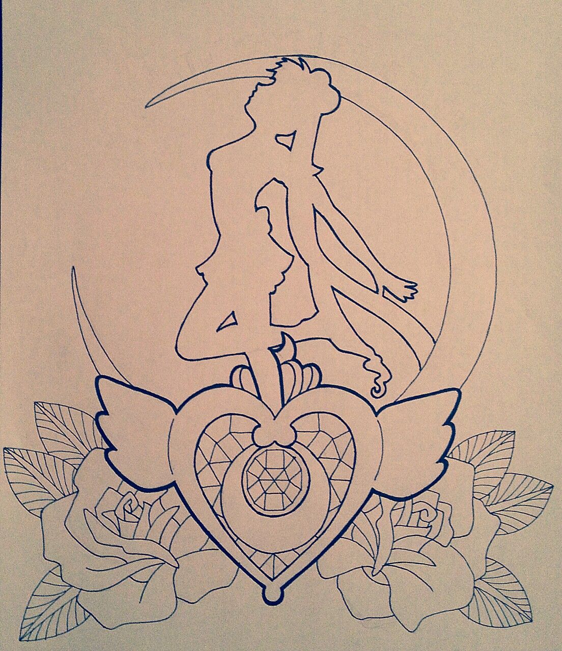 anime my drawing sailor moon tattoo design tattoo concept ...