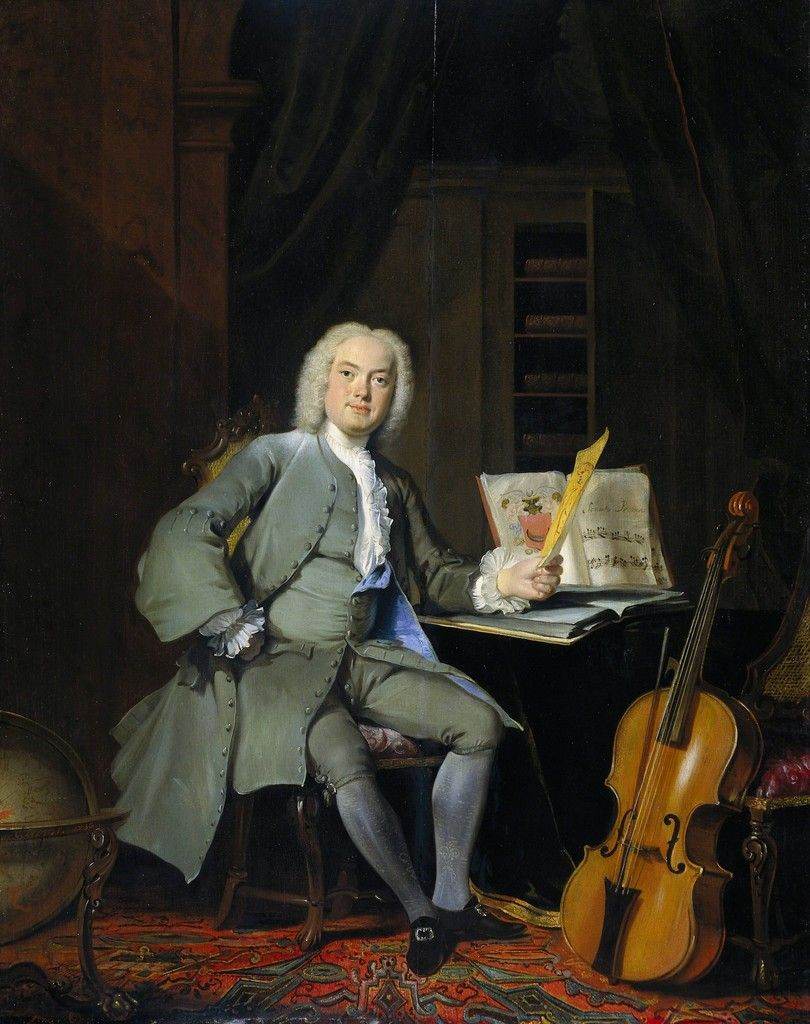 Cornelis Troost, 'Portrait of a Member of the Van der Mersch Family', 1736