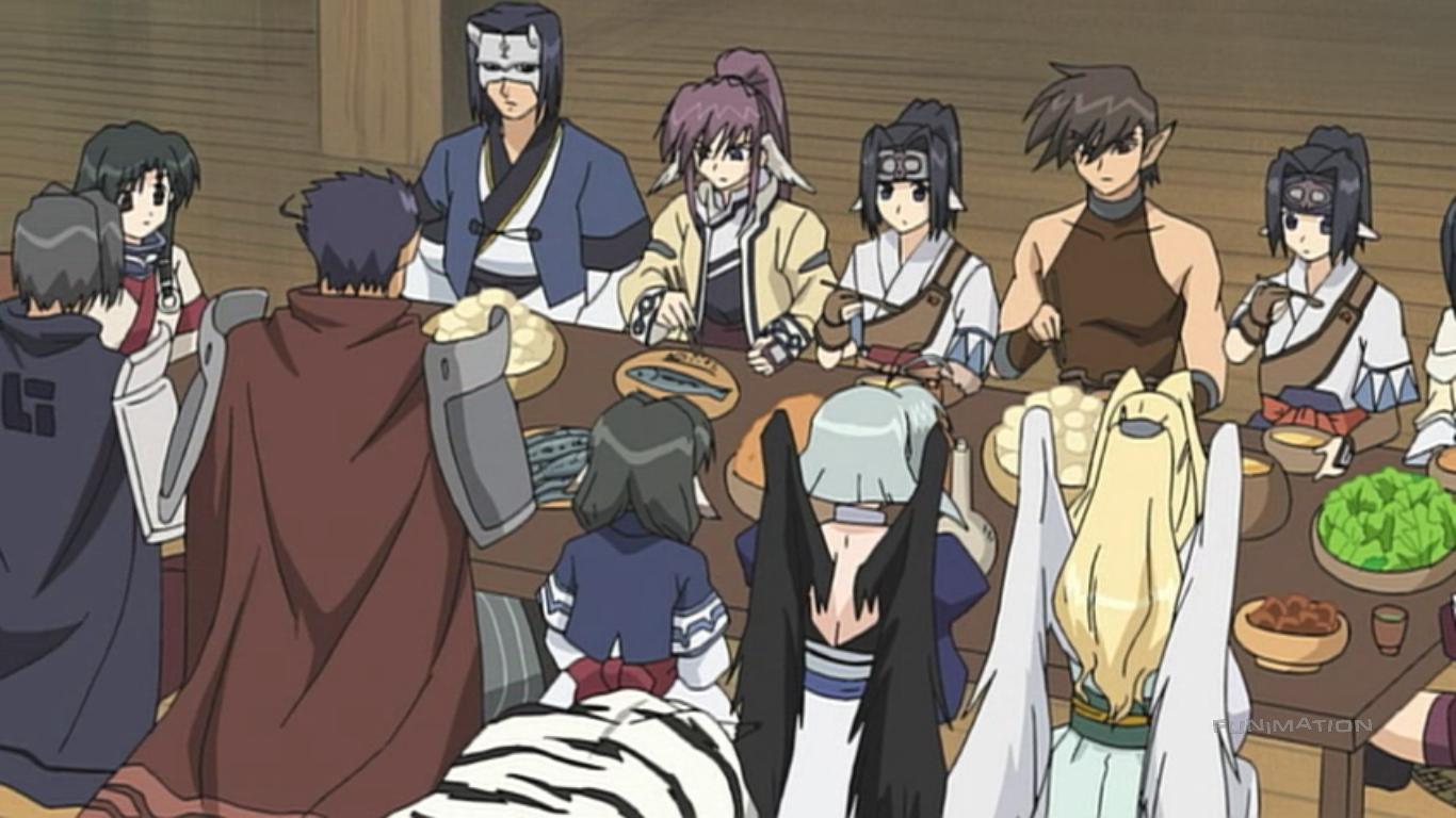 Utawarerumono - They have dinner all together whenever they can. That is so Sweet!