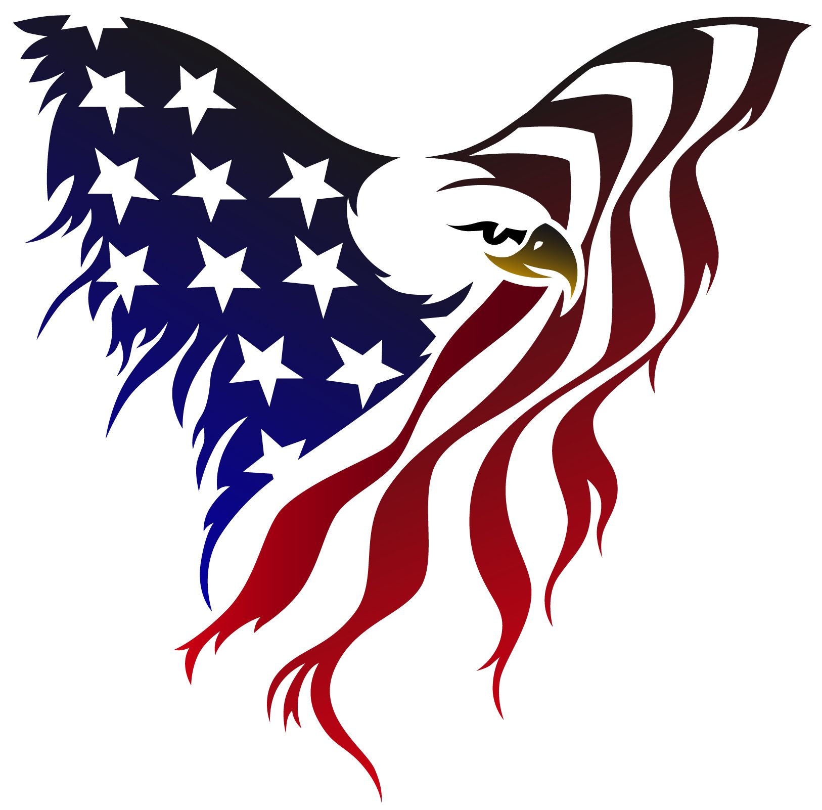 d45f634bce88 american flag eagle tattoo. Great car decal for back window. More