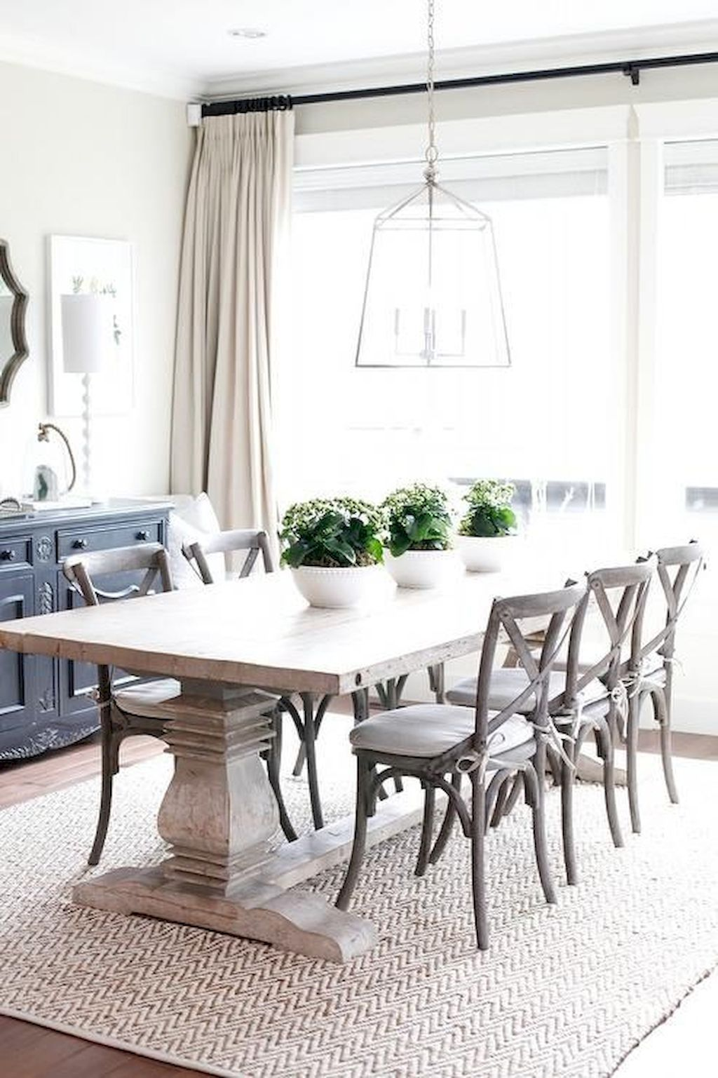 70+ Cottage Dining Room Designs with Everlasting Style ... on Farmhouse Dining Room Curtain Ideas  id=67005