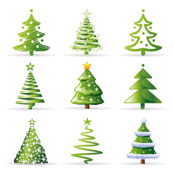 Iconos De Abetos De Navidad Vector Tarjetas De Navidad Pintadas Dibujo De Navidad Dibujos De Navidad