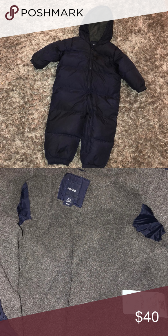 6a4c75652 Baby GAP Down Puffer Snowsuit   18-24 months   Footies   mittens are ...