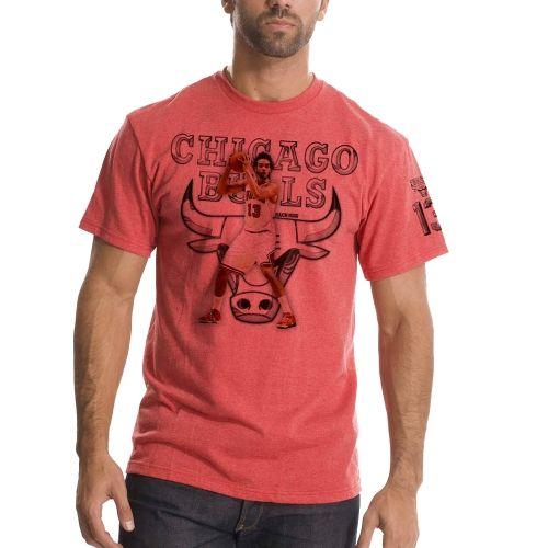 NBA Joakim Noah Chicago Bulls Chrome Name & Number T-Shirt ΓÇô Red