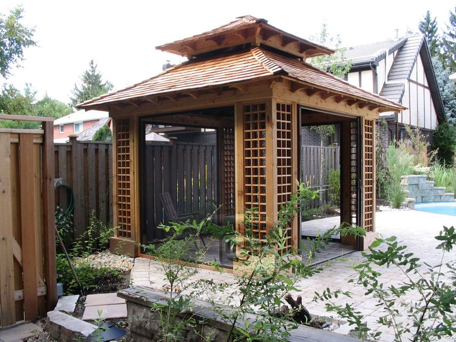 this structure was inspired by the ancient lines and craftsmanship of the chinese garden kiosk