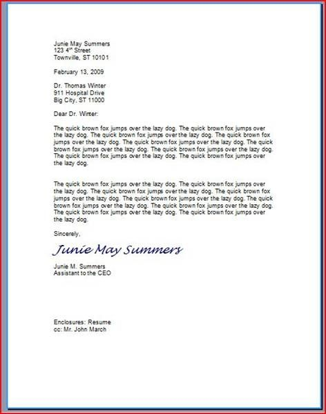 How to Type a Professional Letter Something I have really - how to type a resume