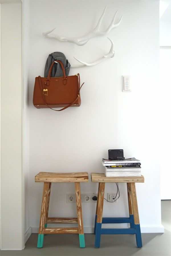 HK Living Hocker Hirschgeweih Garderobe DIY Ideen für die - hirschgeweih deko wohnzimmer