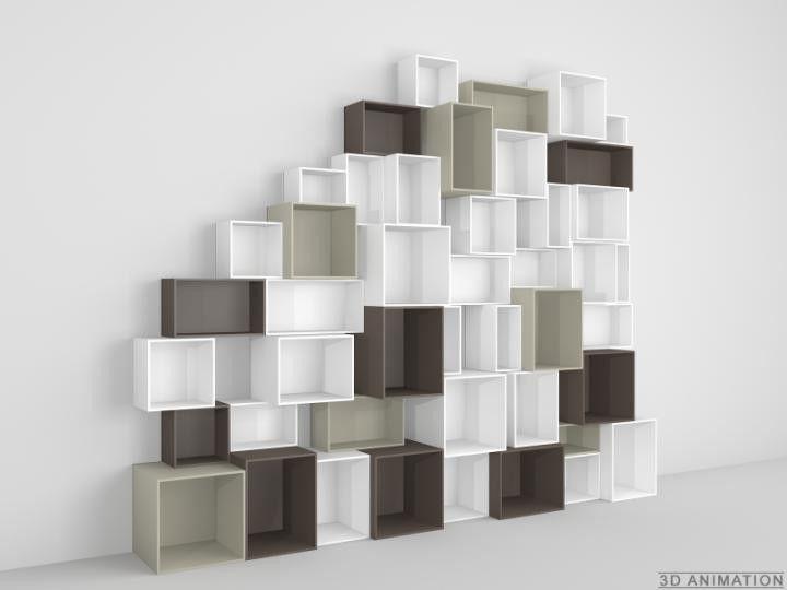 MDF Regal für das Wohnzimmer cubes Pinterest Regal - bucherregal aus holz originelles design info new