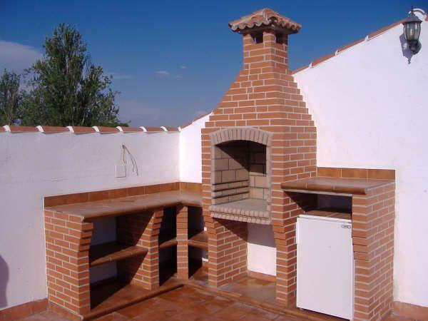 Resultado de imagen para asadores de ladrillo con chimenea - Chimenea ladrillo ...