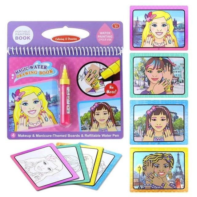 Weekly Deal Magic Water Drawing Book Doodle Coloring Water Drawing Painted Books