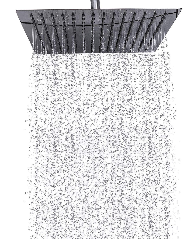 Premium Rain Shower Head 12 Inch Square Ultra Thin Luxury Spa