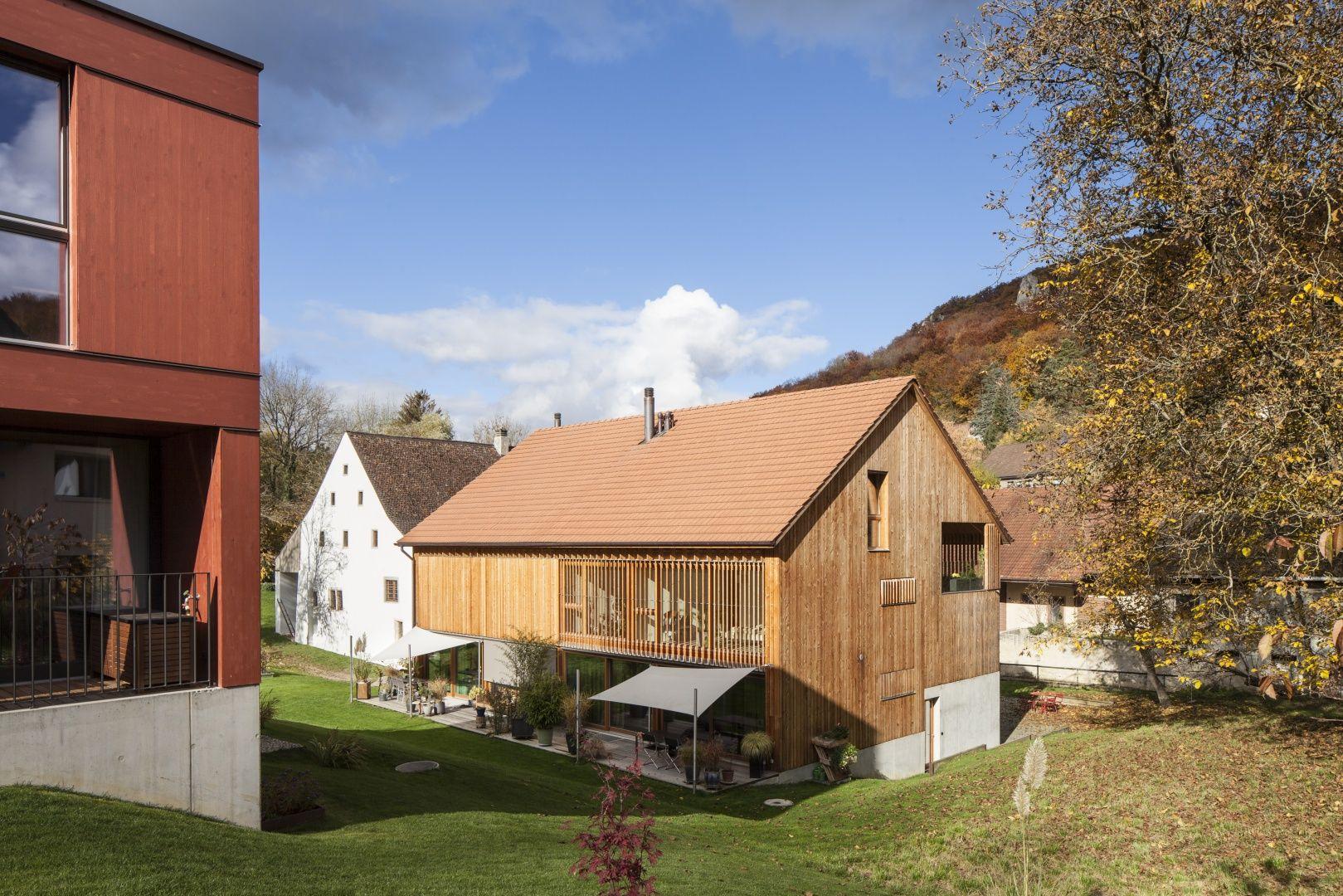 Gartenansicht © Børje Müller Scheunenumbau, Architektur