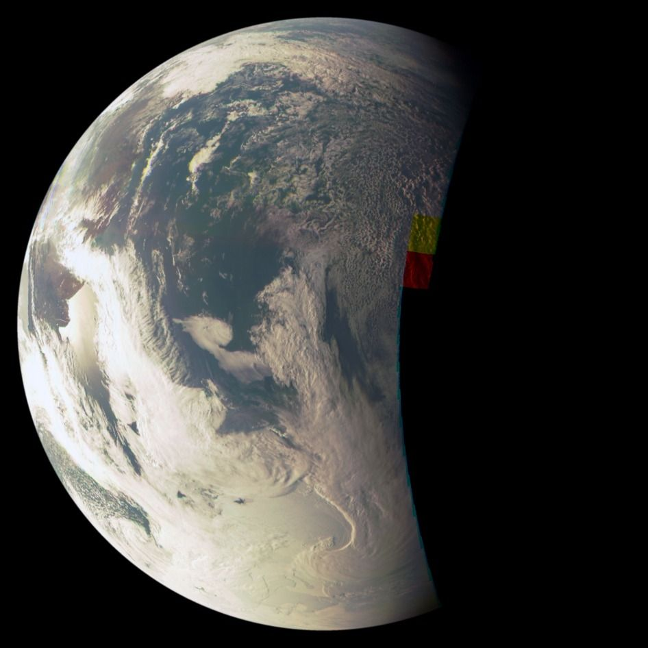 JunoCam views southern Atlantic and Antarctica. This Earth