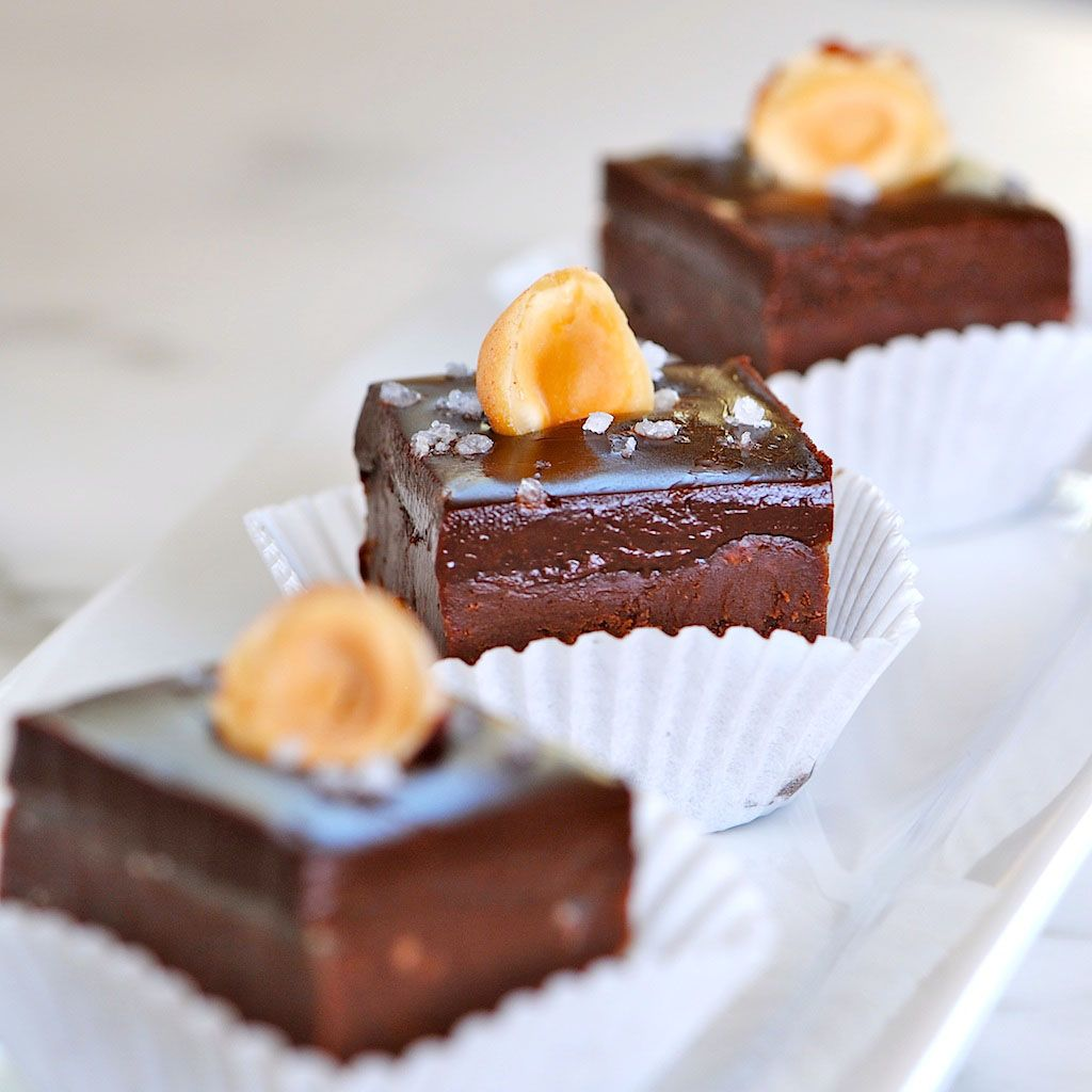 Nutella Chocolate Fudge with Dark Chocolate Sea Salt Ganache