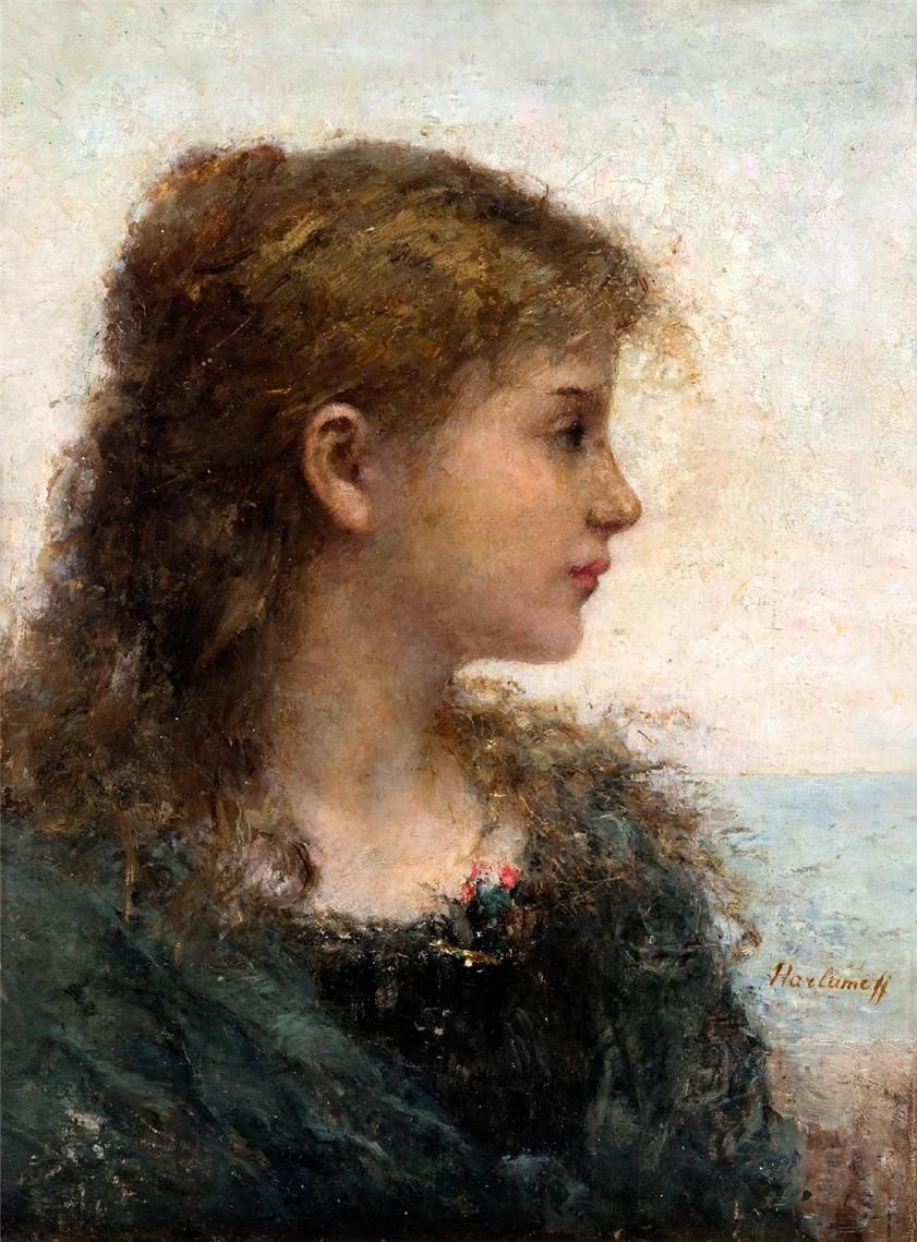 Portrait of a Young Woman by Alexei Harlamov (Wikipedia)