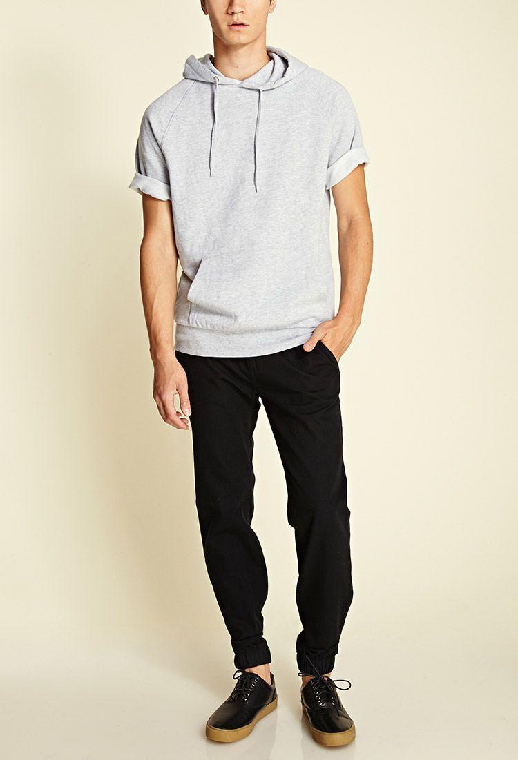 Men Summer Fashion Hooded Pullover Shirt Short Sleeved T-shirt Blouse Tops Hot