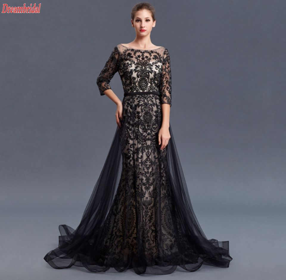 Click to buy ucuc dreambridal new highend in black round collar