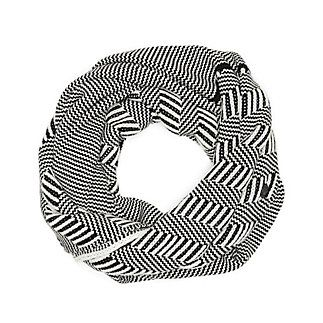 GEO STRIPE INFINITY SCARF-Thick and thin stripes assemble on this simple scarf that can be easily dressed up or down. Pair this stylish Geo Stripe Infinity Scarf with your favorite boyfriend jeans for a causal look, or throw it on with your little black dress for a night out.   <li>80% Acrylic, 20% Nylon