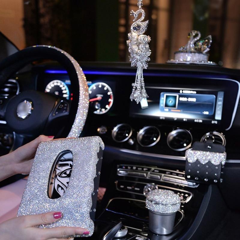 Cute Car Pendant Ornament Women Girl Steering Wheel Cover Phone