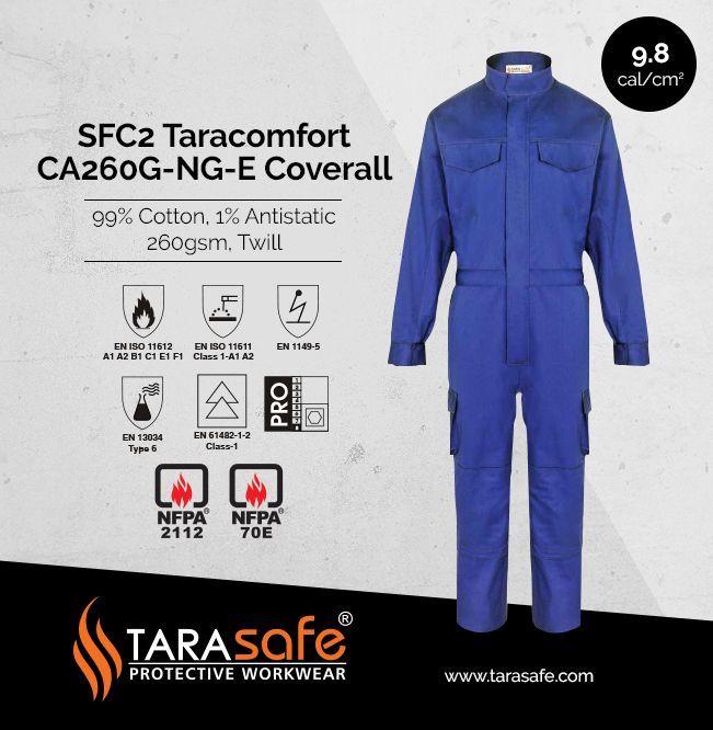 Tarasafe Taracomfort Flame resistant coveralls #Tarasafe