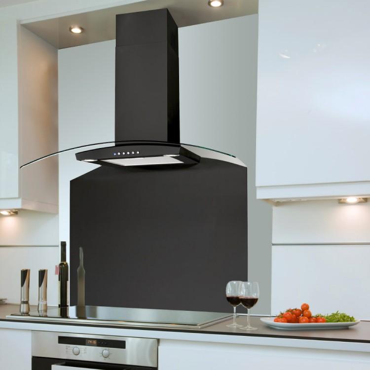 90cm Curved Budget Valore Black Cooker Hood