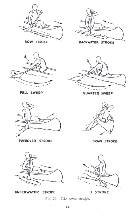parts of a canoe diagram